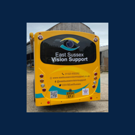 Image shows rear end of the ESVS outreach vehicle