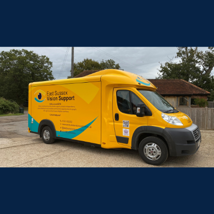 Image shows the driver side of the ESVS outreach vehicle